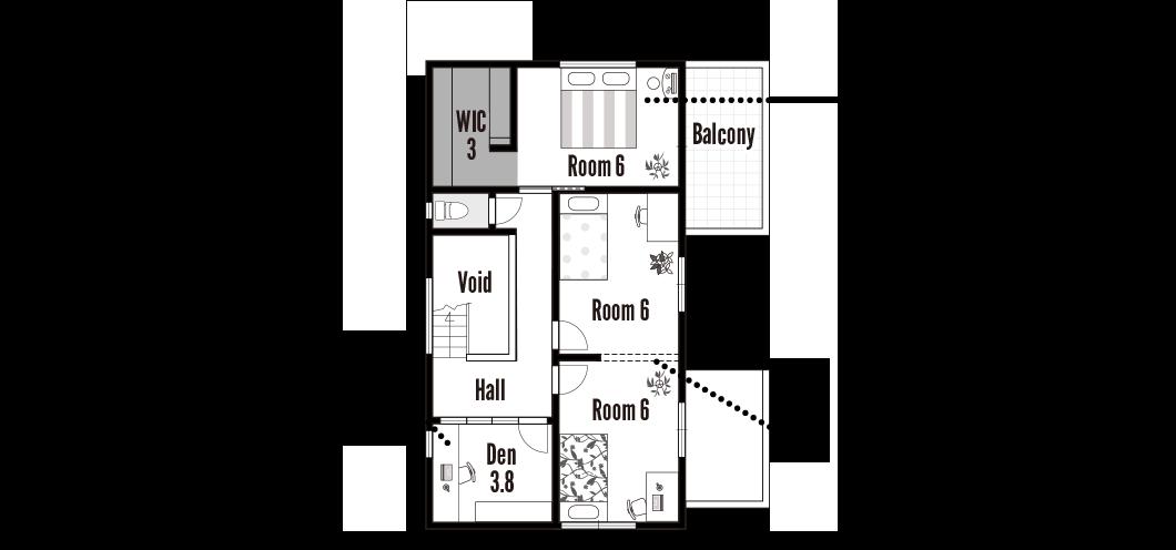 栗東モデルハウス 2階 間取り図