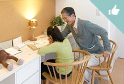 親世帯も子育てに協力しやすいスタディコーナー