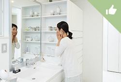 各世帯それぞれに専用の洗面台